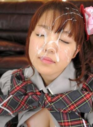 Schoolgirl tokyoite bukkake
